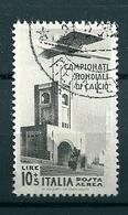 1934 CAMPIONATI CALCIO AEREA 10 + 5 Lire RIPRODUZIONE ALTO VALORE Con Filigrana - 1900-44 Vittorio Emanuele III