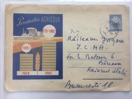 81 AGRICOLA PRODUCTION PRODUCTIA AGRICOLA CORN WHEAT 1961 ROMANIA STATIONARY COVER - 1948-.... Républiques