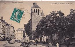 CPA (46) CAHORS La Place Du Marché (2 Scans) - Cahors