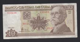 Banconota Cuba - 10 Pesos 2007 Poco Circolata - Cuba
