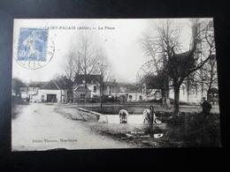 SAINT PALAIS (Allier) - La Place - Avec Les Vaches Dans La Mare - Voyagée En 1929 - TBE - France