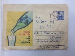 82 MINERAL WATER HEALTHY SOURCE APELE MINERALE UN IZVOR DE SANATATE STATIONARY COVER ROMANIA 1969 - 1948-.... Républiques