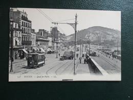 CPA 76 ROUEN QUAI DE PARIS TRAMWAY - Rouen