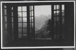RIFUGIO CONTRIN - MARMOLADA - PANORAMA DALLA FINESTRA - TIMBRO RIFUGIO - FORMATO PICCOLO - SCRITTA AL RETRO - Alpinisme