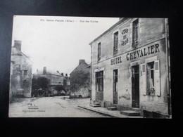 SAINT PALAIS (Allier) - Rue Des Ecoles - Devanture Façade Vins En Gros Hotel Chevalier - TBE - France