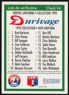 Baseball Checklist, Donruss Durivage (VWP104) - Trading Cards
