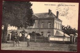 SAHURS Mairie école Des Filles Et Garçons * Seine Maritime 76113 * Sahurs Canton De Canteleu  Cp Animée - France