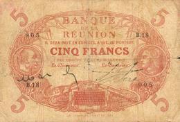 5 FRANCS 1912 - Réunion