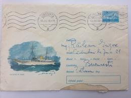 92 BOAT SEA SHIP OCEAN CONSTANTA ROMANIA  COVER 1966 - 1948-.... Républiques