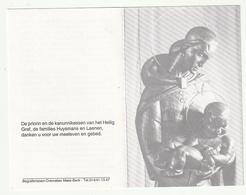 Doodsprentje Zuster Gemma (Maria HUYSMANS) Kanunniker Heilig Graf Turnhout Zoerle-Parwijs 1911 Turnhout 1995 -Fam Laenen - Devotion Images