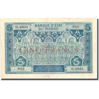 Billet, Maroc, 5 Francs, KM:9, TTB - Maroc