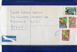 ##(DAN193)-Postal History-South Africa 2002- Registered Airmail Cover From Durban To Firenze-Italy - Birds-Fish  Stamps - Afrique Du Sud (1961-...)