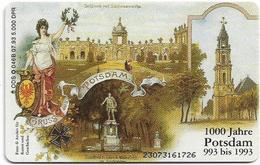 Germany - 1000 Jahre Potsdam Schloss Sanssouci - O 0046B - 07.93, 6DM, 5.000ex, Used - O-Series : Series Clientes Excluidos Servicio De Colección
