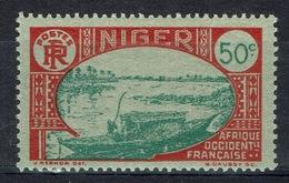 Niger, Niger River 50c., 1926, MH VF - Niger (1921-1944)