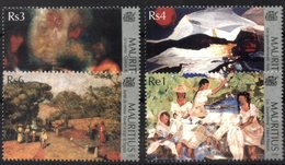 MAURITIUS, 1999, PAINTINGGS, YV#926-29, MNH - Mauritius (1968-...)