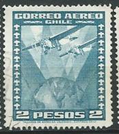 Chili  - Aérien , Yvert N°  39  Oblitéré     Po60622 - Chile