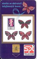 CARTE-PUCE-TCHEQUE-PAPILLONS-UTILISE-TBE- - Papillons