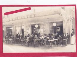 """65-BAGNERES De BIGORRE-CARTE-PHOTO """"CAFE RICHE"""" ALLEE Des COUSTOUS-ANIMATION-Ecrite -COMMERCE-TERRASSE- - Cafés"""