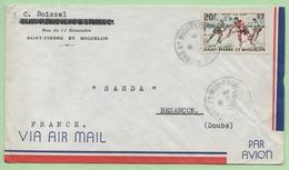 """LETTRE AVION - Oblitération """"SAINT PIERRE ET MIQUELON"""" 11/6/1960 - - Covers & Documents"""