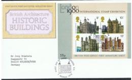 1978 1. März Stamp Exhibition FDC Mi GB BL1 Sn GB 834a Yt GB BF1 Sg GB MS1058 AFA GB 827MS  Un GB BF1 - 1971-1980 Dezimalausgaben