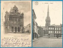 (G097) GOSSELIES - Hôtel De Ville - Eglise - Ecole Normale - Soeurs De La Providence - Charleroi