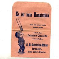 Sachet Publicité Magasin Vente Cigarette Eckstein Dresden - Tabac (objets Liés)