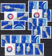 Raumfahrt 1975 POLSKA 2386/8 9x ZD Out Sheet 62 O 17€ Raketen-Kopplung S/s Blocs Space Se-tenants Bf POLONIA/Poland - Space