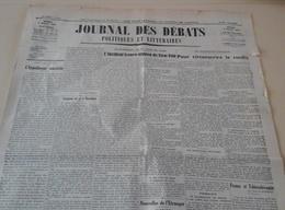 Journal Des Débats 3 Août 1937 Incident Franco Nippon Tien Tsin Chine Du Nord Guerre Civile En Espagne Teruel Asturies - Journaux - Quotidiens