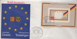 Enveloppe Commémorative De La Signature Du Jumelage Entre Trossingen (Allemagne) Et Cluses (Haute-Savoie) - Europe (Other)