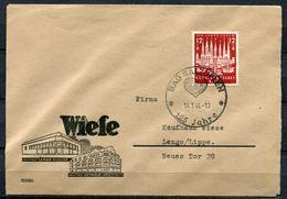 """German Empires 1944 Firmen Heimatbeleg/Cover BAD SALZUFLEN Mit Mi.Nr.862 U.SST""""Bad Salzuflen-125 Jahre ....""""1 Beleg - Cartas"""