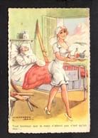 Illustrateur ( C ) Humour  / Dessin Signé Jean Chaperon / Tout Bonheur Que La Main N'atteint Pas .... / Infirmière - Chaperon, Jean
