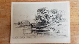 "OLD Soviet POSTCARD   - Vasiliev "" River""  - 1960s Landscape - Paintings"