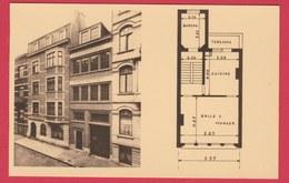 St. Josse-ten-Noode - Réalisation De L'Architecte Jules Petit-Bois ... Maison Avec Plan  ( Voir Verso ) - St-Joost-ten-Node - St-Josse-ten-Noode