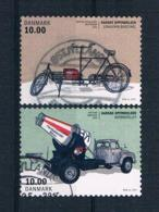 Dänemark 2015 Autos Mi.Nr. 1825/26 Gestempelt - Used Stamps