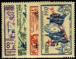 French India. Sc #177-178,180-181. Mint. ** - India (1892-1954)