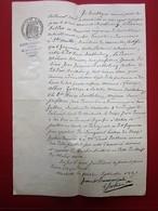 1887 MANUSCRIT JUGEMENT TRIBUNAL CIVIL-BARTHÉLEMY SOLDAT 9é RÉGIMENT CUIRASSIERS MARSEILLE SAINTE-MARTHE ET SAINT-JULIEN - Manuscrits