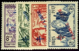 French India. Sc #177-178,180-181. Unused. * - India (1892-1954)