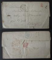 FRANCE Lettre Précurseur 1840 Versailles Vers Collège De Brugelette Près D'Ath BELGIQUE - Postmark Collection (Covers)