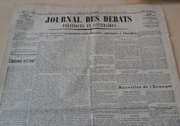 Journal Des Débats 17 Août 1937 Guerre Espagne Succés Nationalistes Santander Chine Offensive Japonaise Changhaï - Journaux - Quotidiens
