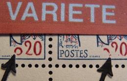 R1949/184 - 1961 - MARIANNE De COCTEAU - N°1282 BLOC NEUF** CdF - VARIETE ➤➤➤Impression Incomplète - Variétés Et Curiosités