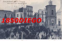 TORRE DEL GRECO - PIAZZA E CAMPANILE  F/PICCOLO VIAGGIATA BELLA ANIMAZIONE - Torre Del Greco