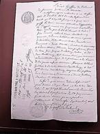 1887 MANUSCRIT JUGEMENT TRIBUNAL INSTANCE-BARTHÉLEMY SOLDAT 9é RÉGIMENT CUIRASSIERS MARSEILLE SAINTE-MARTHE/SAINT-JULIEN - Manuscrits