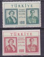 Turquie, N° 1289/1290,  Neuf**, 1956, Cote 19.75€ (W1903T006) - 1921-... République