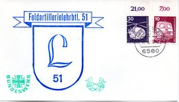 "(BWH1) BRD Cachetumschlag BUNDESWEHR ""Feldartillerielehrbtl. 51"" TSt 17.5.1979 AROLSEN 1 - [7] République Fédérale"