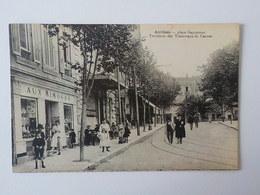 1951 CP Animée Antibes Place Guynemer Terminus Tramways De Cannes Rails Tram - Antibes - Vieille Ville