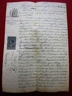 1882 MANUSCRIT JUGEMENT TRIBUNAL COMMERCE MARSEILLE COMMERÇANT à /SAINT-JULIEN - Manuscrits