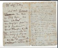 """AUGUSTE PREAULT 1809 - 1879 , Alexandre Pothey 1809 - 1879 , Lettres Autographe ( Etienne Carjat Pour """" Le Diogène """" ) - Handtekening"""