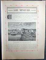 TURQUIE TUKEY  PLAQUETTE DE 6  PAGES  AVEC GRAVURES BROUSSE NICEE EPHESE  1888 - 1801-1900