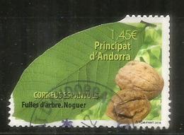 Feuille D'arbre: Le NOYER,  Un Timbre Oblitéré, 1 ère Qualité, 2018 . Adhésif, Haute Faciale, Sur Fragment Lettre - Used Stamps