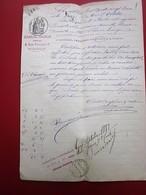 1882- 2 MANUSCRITS JUGEMENT TRIBUNAL CIVIL MARSEILLE A FAIT AFFICHER EXEMPLAIRES CONF A LOI PR VENTE ENCHÈRES PUBLIQUES - Manuscrits